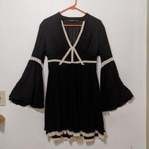 Ark & Co Belle Sleeve Lace Trim Dress